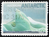 AUSTRALIA - CIRCA 2011: A stamp printed in Australia shows a block of ice antarctic Territory, circa 2011 — Stock Photo