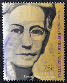 ARGENTINA - CIRCA 1999: A stamp printed in Argentina shows Rosario Vera Peñaloza, circa 1999 — Stock Photo