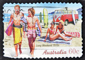 AUSTRALIA - CIRCA 2010: A stamp printed in australia shows long weekend 1970s, circa 2010 — Photo