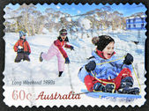 AUSTRALIA - CIRCA 2010: A stamp printed in australia shows long weekend 1990s, circa 2010 — Stock Photo