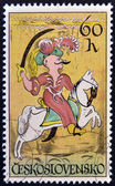 CZECHOSLOVAKIA - CIRCA 1972: A stamp printed in Czechoslovakia shows a Turkish Janissary, circa 1972 — Стоковое фото