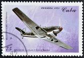 CUBA - CIRCA 1995: A stamp printed in Cuba shows german Messerschmitt, Fighter plane from World War II, circa 1995 — Stock Photo