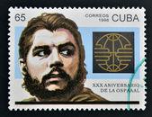 CUBA - CIRCA 1996: A stamp printed in Cuba shows Ernesto Che Guevara, circa 1996 — Stock Photo