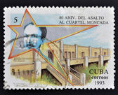CUBA - CIRCA 1993: a stamp printed in Cuba dedicated to 40 Anniversary of the Assault to the Moncada Barracks, circa 1993 — Stock Photo