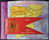 SPAIN - CIRCA 2010: A stamp printed in spain commemorating the anniversary of the founding of the kingdom of Leon, circa 2010 — Stock Photo