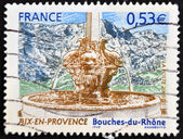 FRANCE - CIRCA 2005: A stamp printed in France shows Aix-en-Provence in Bouches du Rhone, circa 2005 — Stock Photo