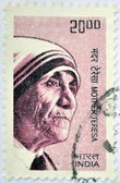 INDIA - CIRCA 2008: A stamp printed in India shows Mother Teresa of Calcutta, circa 2008 — Stock Photo