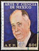 MEXICO - CIRCA 1973: A stamp printed in Mexico shows Joaquin Gallo, astronomer founder of this science in early twentieth century, circa 1973 — Stock Photo