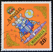 MONGOLIA - CIRCA 1973: A stamp printed in Mongolia, shows Apollo 11, circa 1973 — Foto Stock