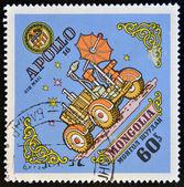 MONGOLIA - CIRCA 1973: A stamp printed in Mongolia, shows Apollo 16, circa 1973 — Photo
