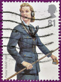 UNITED KINGDOM - CIRCA 2008: a stamp printed in UK shows WAAF plotters, wife watcher airspace in World War II in 1940, circa 2008 — Stock Photo