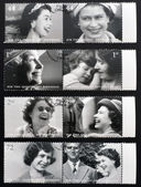 UNITED KINGDOM - CIRCA 2002: Collection stamps printed in Great Britain shows Queen Elizabeth II, circa 2002. — Stock Photo