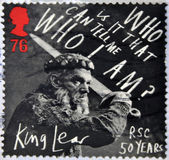 UNITED KINGDOM - CIRCA 2011: a stamp printed in UK shows a scene of the movie King Lear, in his 50 years in the story written by William Shakespeare, circa 2011 — Foto Stock