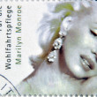 GERMANY - CIRCA 2001:A stamp printed in Germany shows Marilyn Monroe, circa 2001 — Stock Photo