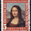 Stock Photo: GERMANY- CIRC1952 : stamp printed in Germany shows MonLisa, 500th anniversary of Leonarde dVinci's birth, circ1952