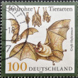 GERMANY - CIRCA 1999: A stamp printed in Germany shows bats, circa 1999 — Stock Photo