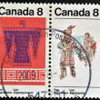 CANADA - CIRCA 1973: stamp printed in Canada shows the Algonkian, circa 1973 — Stock Photo