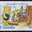 CANAD- CIRC1996: stamp printed inCanada, shows Milne and Shepard´s Winnie Pooh, circ1996 — Stock Photo #12129693
