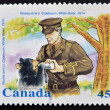 CANADA - CIRCA 1996: stamp printed in Canada shows Winnie and Lt. Coleboum, circa 1996 - Stock Photo