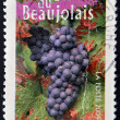 Royalty-Free Stock Photo: FRANCE - CIRCA 2004: A stamp printed in France shows the vineyards of Beaujolais, circa 2004