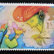 UNITED KINGDOM - CIRCA 1985: a stamp printed in the Great Britain shows Aladdin and the Genie, circa 1985 — Stock Photo