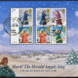 UNITED KINGDOM - CIRCA 2007: Collection stamps printed in Great Britain shows The Herald Angels Sing, Christmas, circa 2007 — Foto de Stock