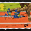 UNITED KINGDOM - CIRC1986: stamp printed in Great Britain shows Sprinter in Starting Block, circ1986 — Stock Photo #12129801