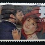 UNITED KINGDOM - CIRCA 2005: A stamp printed in Great Britain shows 'La Danse a la Campagne' by Renoir, circa 2005 — Stock Photo #12129827