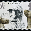 Stock Photo: UNITED KINGDOM - CIRC1981: stamp printed in Great Britain shows Charles Darwin and Giant Tortoises, circ1981