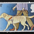 UNITED KINGDOM - CIRC1981: stamp printed in Great Britain shows Guide Dog for Blind, circ1981 — Stock Photo #12129943