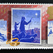 UNITED KINGDOM - CIRCA 1988: A stamp printed in Great Britain showing Shepherds and Star, circa 1988 — Stok fotoğraf