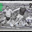 Stock Photo: UNITED KINGDOM - CIRC1993: stamp printed in Great Britain dedicated to Football Legends, shows Bobby Moore, circ1993