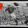 Stock Photo: UNITED KINGDOM - CIRC1993: stamp printed in Great Britain dedicated to Football Legends, shows Dixie Dean, circ1993