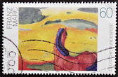 GERMANY - CIRCA 1992: A stamp printed in Germany shows Horse in a Landscape by Franz Marc, circa 1992 — Stock Photo