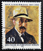 GERMANY - CIRCA 1972: A stamp printed in Germany shows Max Liebermann, circa 1972 — Стоковое фото