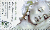 GERMANY - CIRCA 2001:A stamp printed in Germany shows Marilyn Monroe, circa 2001 — 图库照片