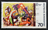 GERMANY - CIRCA 1974: a stamp printed in Germany shows Big Still-life, Painting by Max Beckmann, circa 1974 — Stock Photo