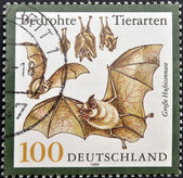 GERMANY - CIRCA 1999: A stamp printed in Germany shows bats, circa 1999 — Zdjęcie stockowe