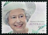 AUSTRALIA - CIRCA 2007: A stamp printed in Austraia shows Queen Elizabeth II, circa 2007 — Stock Photo