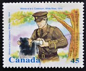 CANADA - CIRCA 1996: stamp printed in Canada shows Winnie and Lt. Coleboum, circa 1996 — Stock Photo