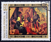 HUNGARY - CIRCA 1978: stamp printed in Hungary, shows the painting Adoration of the Magi by A. Dürer, circa 1978 — ストック写真