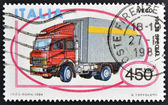 ITALY - CIRCA 1984: A stamp printed in Italy shows truck Iveco 190-38 Special, circa 1984 — Stock Photo