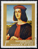 HUNGARY - CIRCA 1984: stamp printed in Hungary, shows the Self-portrait by Raphael, circa 1984 — Stock Photo