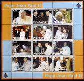 MORDOVIA - CIRCA 2003: Collection stamps printed in Mordovia shows Pope John Paul II, circa 2003 — Stock Photo