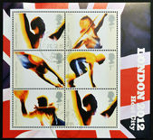UNITED KINGDOM - CIRCA 2006: Stamps dedicated to London's Successful Bid for Olympic Games, 2012, circa 2012 — Stock Photo