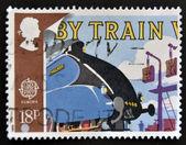 Großbritannien - circa 1988: eine briefmarke gedruckt in großbritannien zeigt stockente und katalog auf pick-up-arme, ca. 1988 — Stockfoto