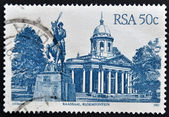 SOUTH AFRICA - CIRCA 1982: A stamp printed in RSA shows Raadsaal, Bloemfontein, circa 1982 — Stock Photo