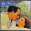 Stock Photo: GERMANY - CIRCA 2007: A stamp printed in Germany shows Paul Klinger and Nadia Gray; stamp based on the poster to the 1956 film Hengst Maestoso Austria, circa 2007