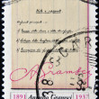 ITALY - CIRC1997: stamp printed in Italy shows prison notebooks of Antonio Gramsci, circ1997 — 图库照片 #12365735