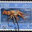 SULTANATE OF OMAN - CIRC1980: stamp printed in Omshows panulirus homarus, circ1980 — Stock Photo #12365759